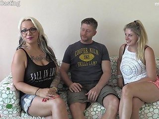 Bravotube - 2 Amateur Milfs Invited A Friend Over To Have Their First Threesome